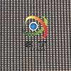 500D各种颜色方格浸塑PVC网格箱包面料透气窗PVC网眼布