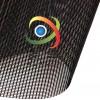 生产12针涂塑箱包PVC网格布 10*12方格PVC网眼布